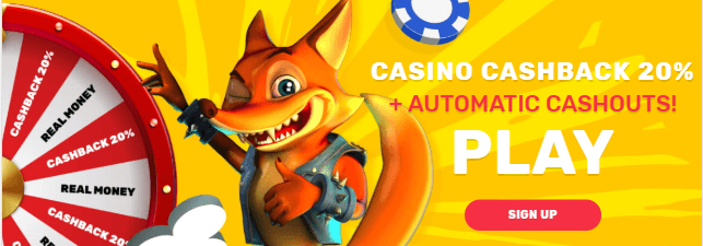 ★ 20% Daily Cashback at Crazy Fox