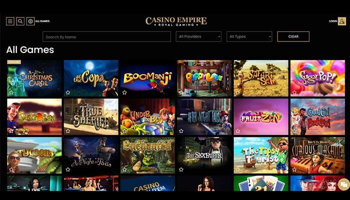 Casino empire Games Preview