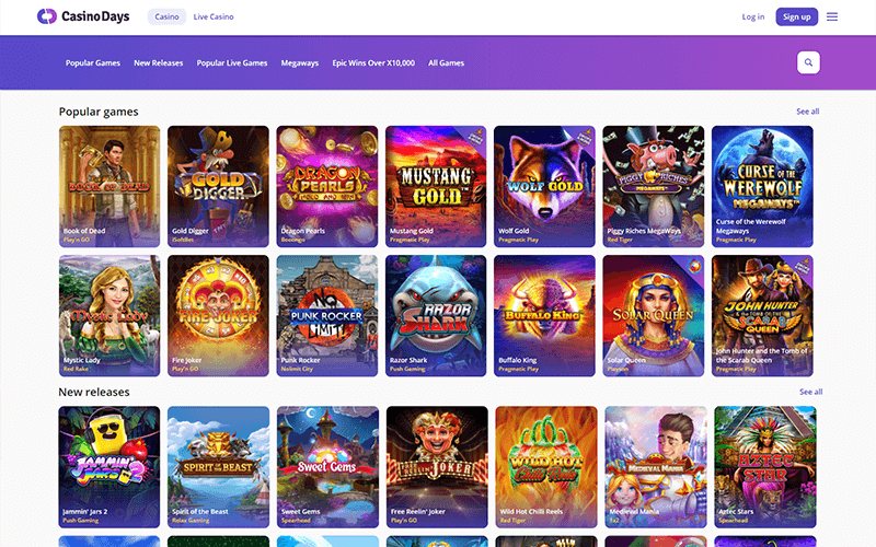 Casino Days Games Preview