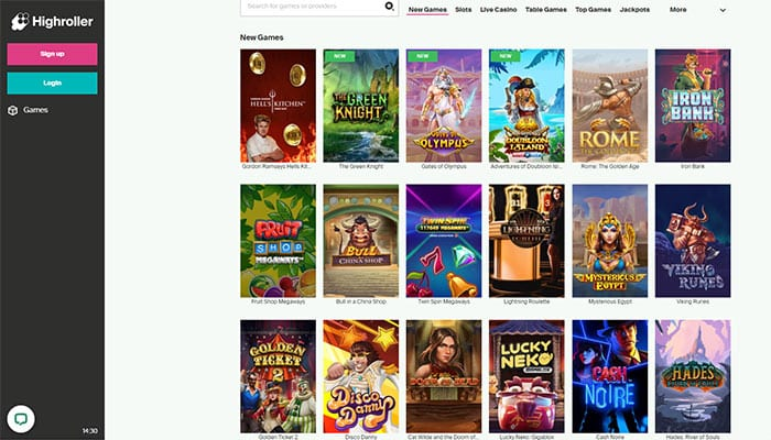 Highroller Casino Games Preview