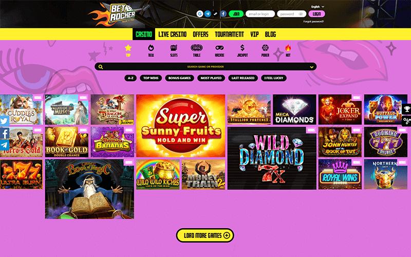 Betrocker Casino Games Preview