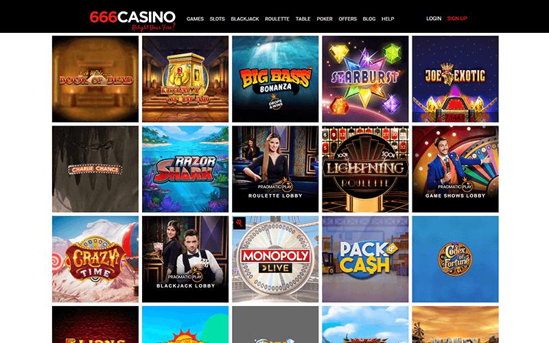 666 casino Popular Games Preview