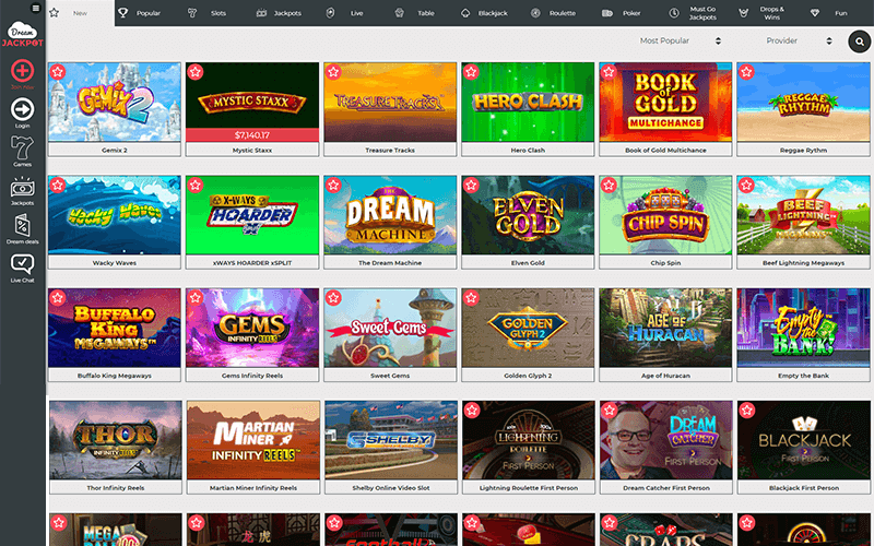 Dream Jackpot New Games Preview