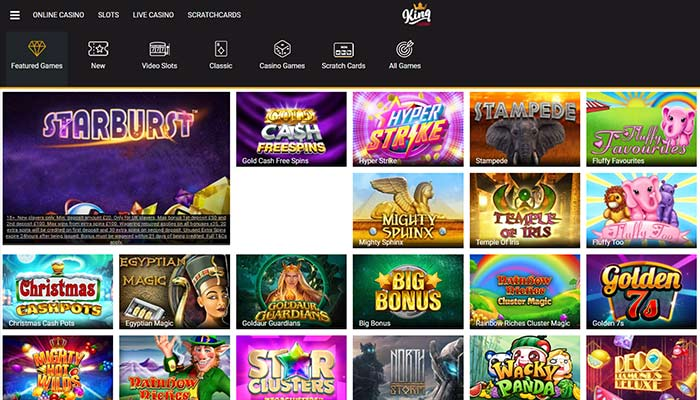 King Casino Games Preview