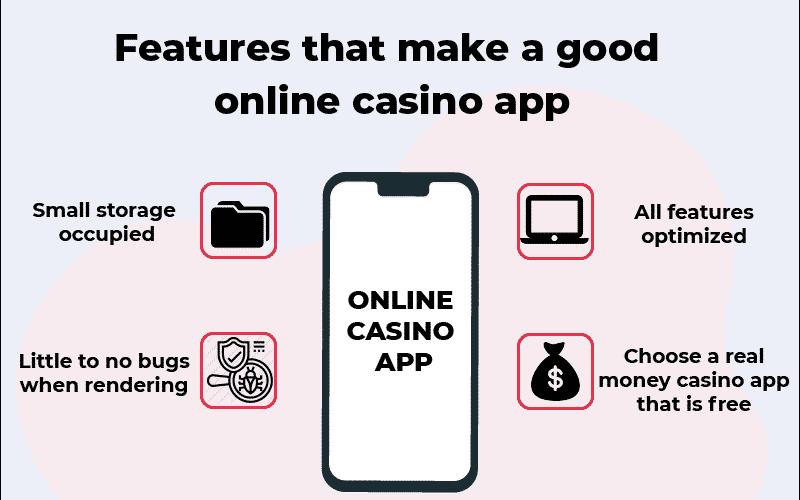 online casino app features