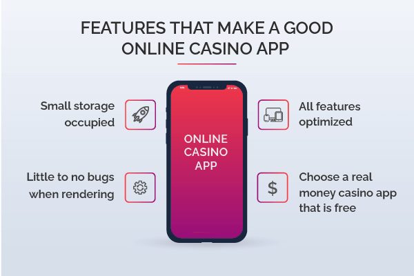 online casino app features