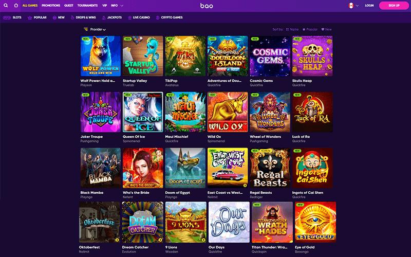 Bao Casino All games Preview