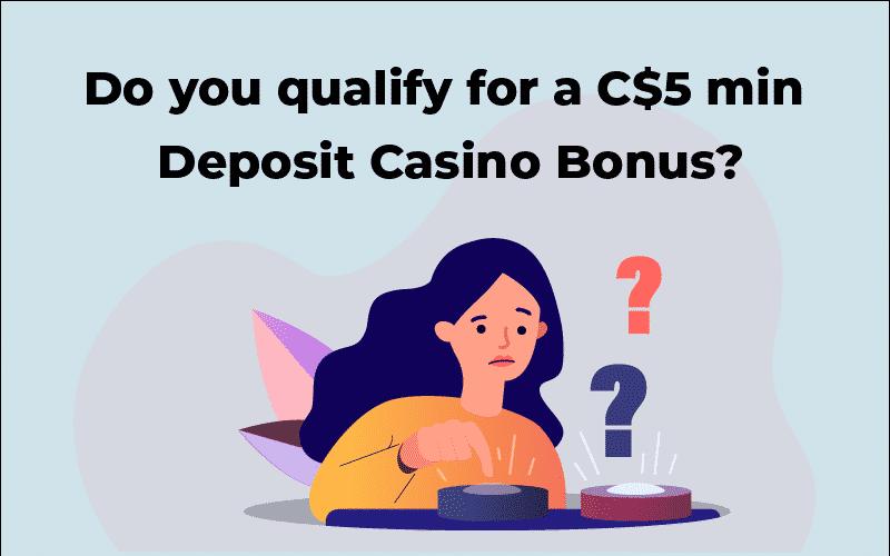 C$5 min deposit casino bonus
