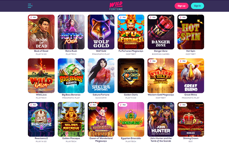 Wild Fortune Games Preview