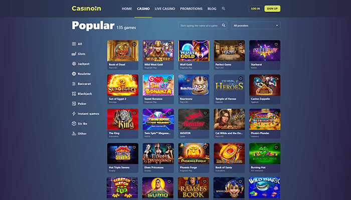 Casinoin Popular Games Preview