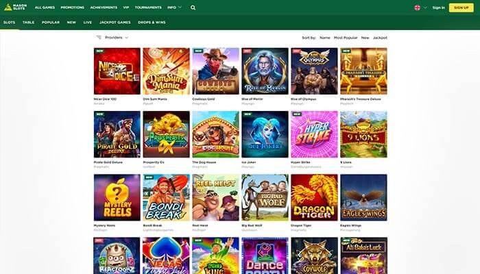 Mason Slots Games Preview