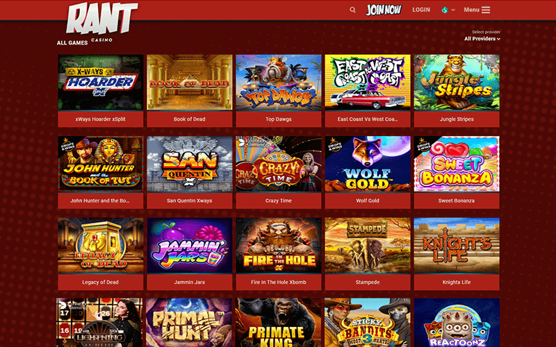 Rant Casino Games Preview