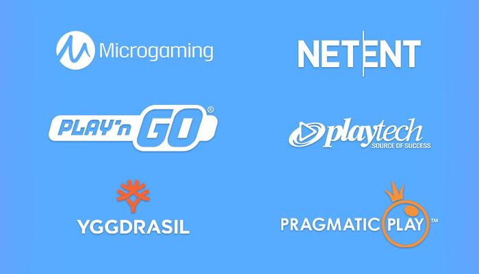 Which software developers make progressive jackpot slots
