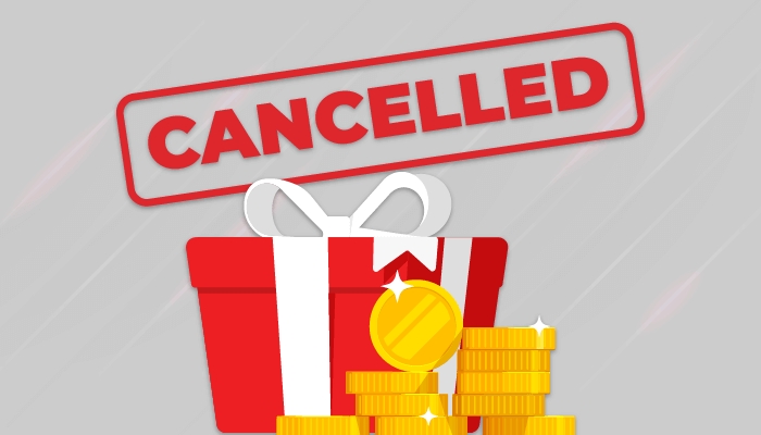 How can I cancel my bonuses