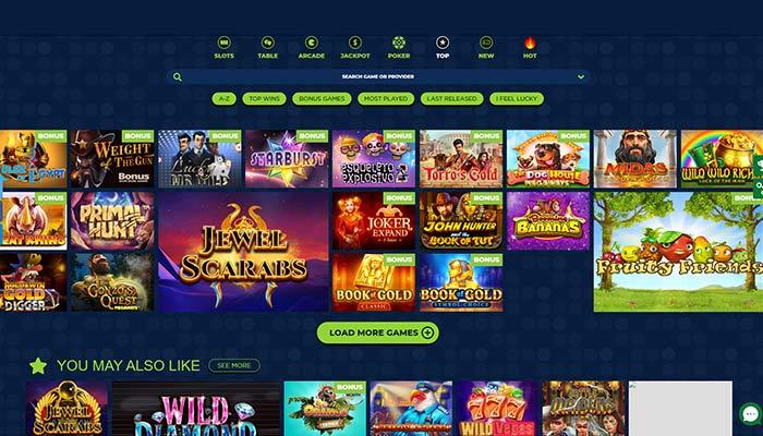 LuckyZon Casino Top Games Preview