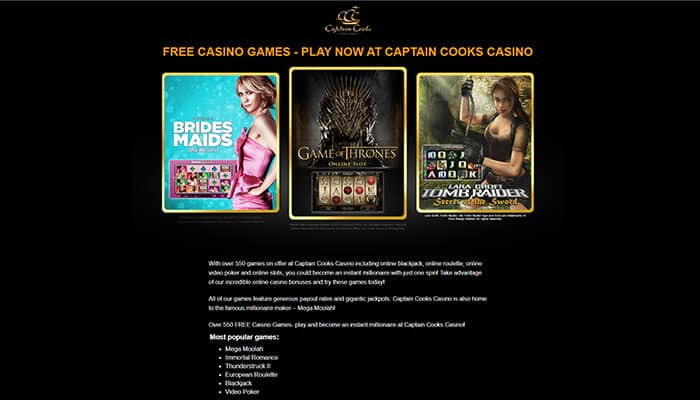 Captain Cooks  Free Casino Games Preview