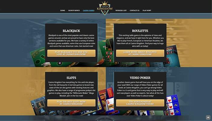 Kingdom Casino Games Preview