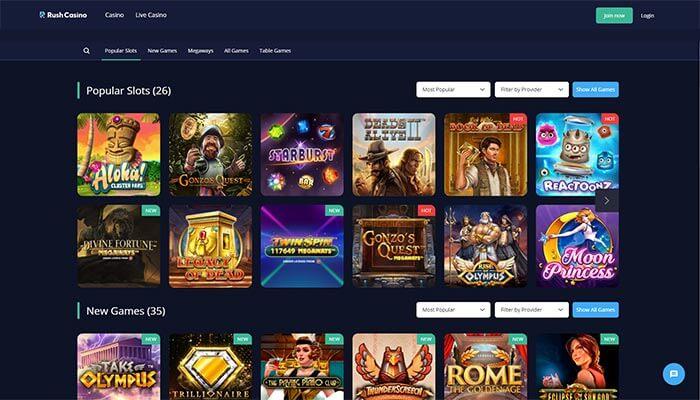 Rush Casino Popular Slots Preview