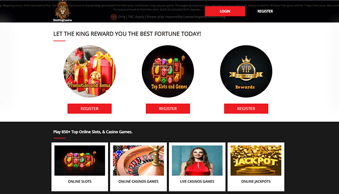 Slotkingcasino Homepage Preview