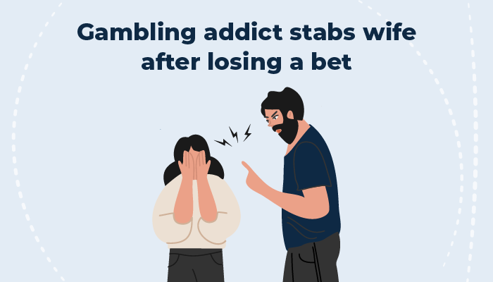 Gambling addict betting