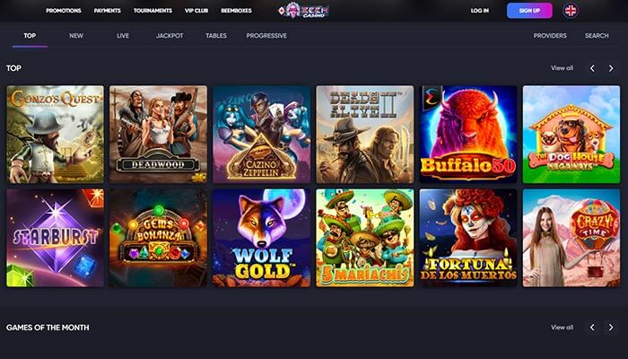 Beem Casino Top Games Preview