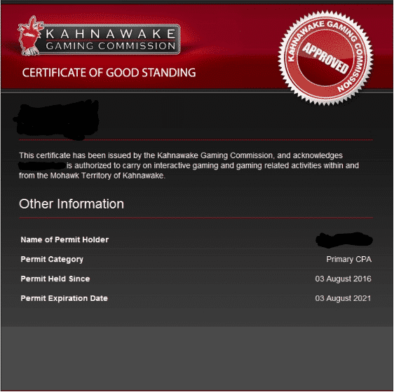 kahnawake casino license