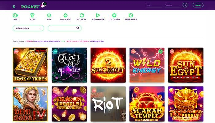 Casino Rocket Games Preview