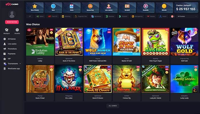 WooCasino Games Preview