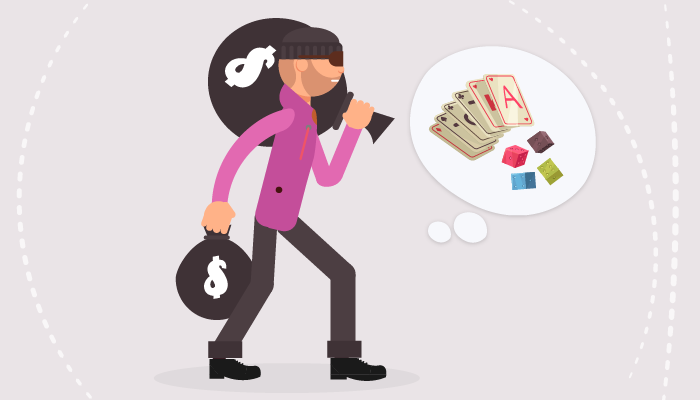 Illegal actions to finance your gambling