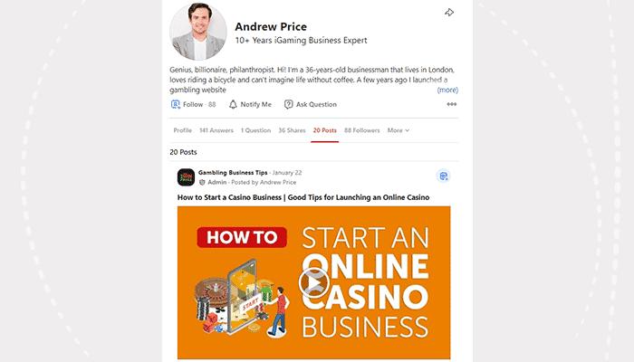 Gambling business tips on Quora