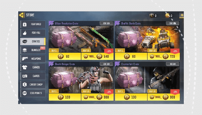 Call of Duty: Mobile crates