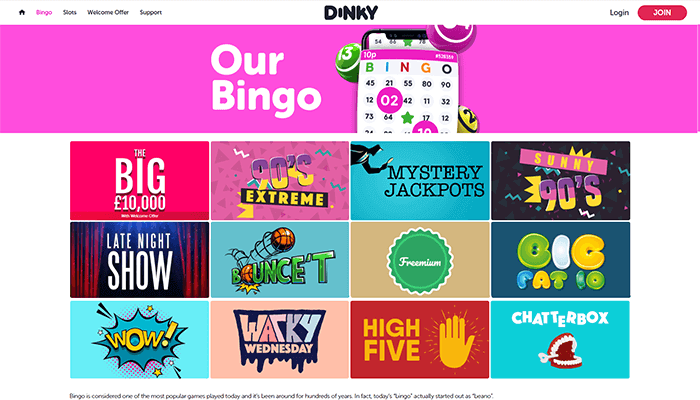 Dinky Bingo Games Preview