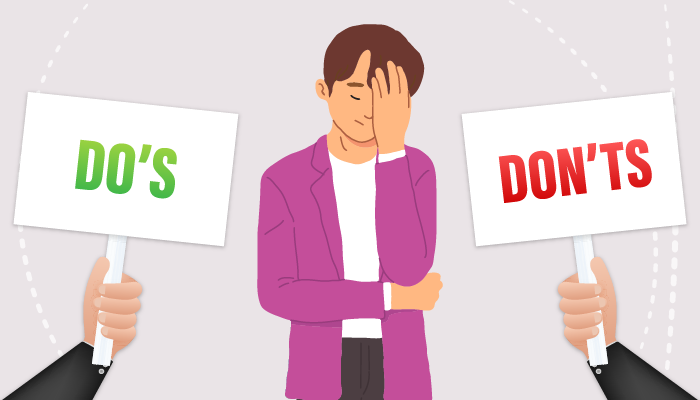 Do's and Don'ts for problem gambler's partners