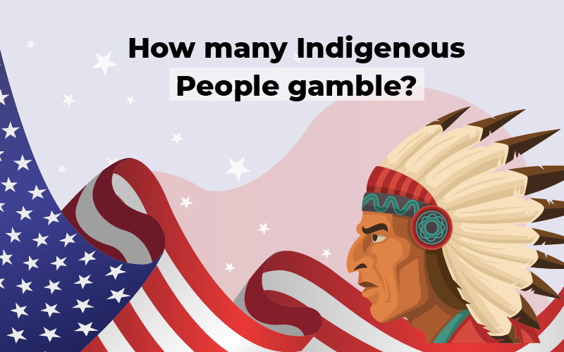 How many Indigenous people gamble?