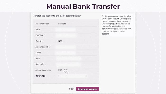 Manual Bank Transfer