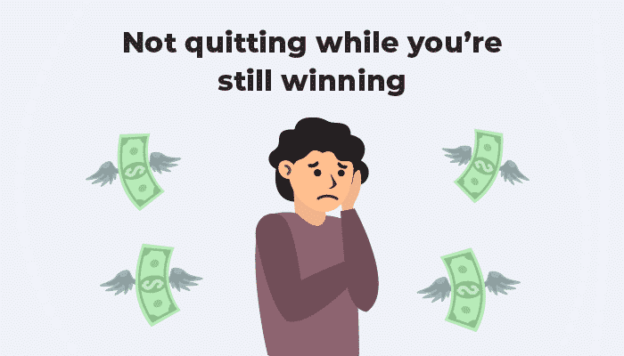 Not quitting roulette session while you win
