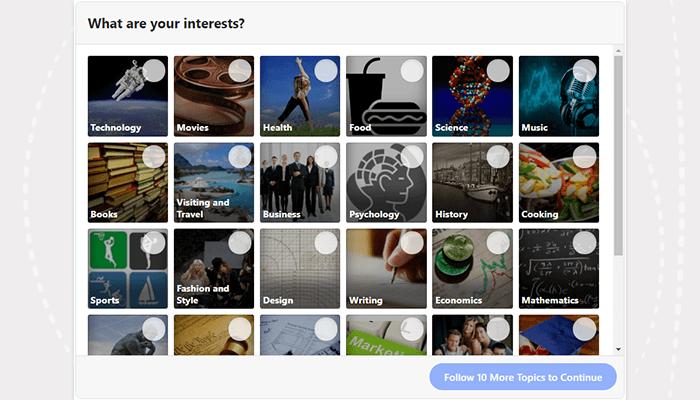 Quora interests