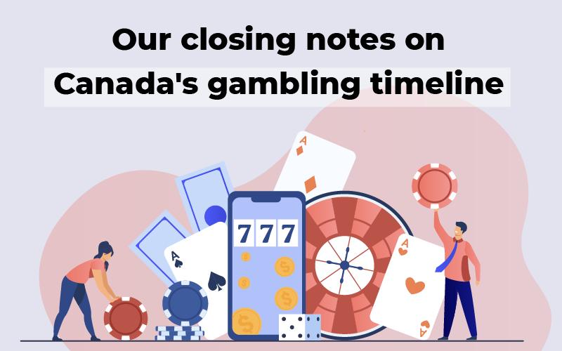 Canada's gambling timeline