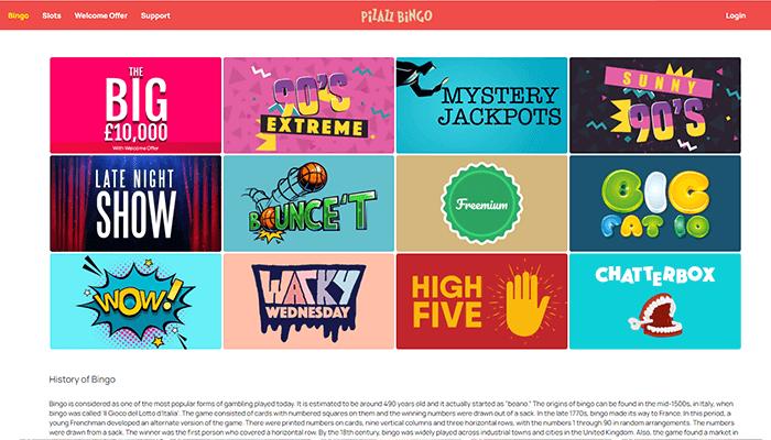 Pizazz Bingo Games Preview