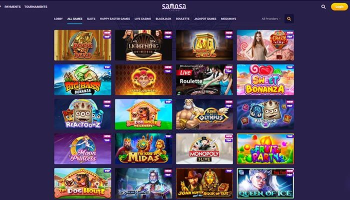 Samosa Casino Games Preview