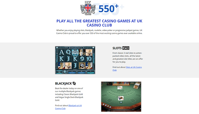 UK Casino Club Games Preview