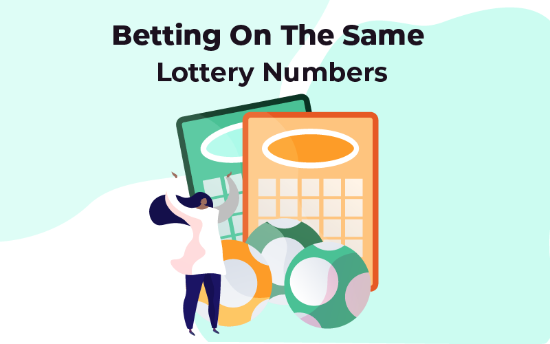 Betting on the same lottery numbers