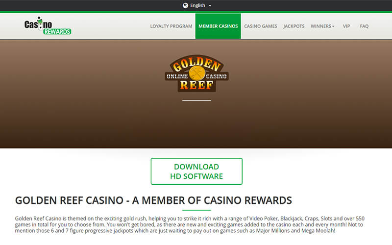 Golden Reef Casino Download Software Preview