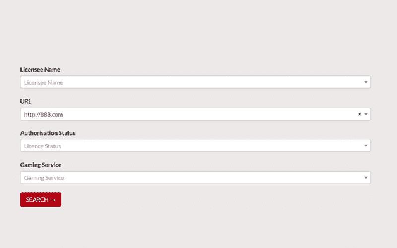 Search gambling website on MGA licence