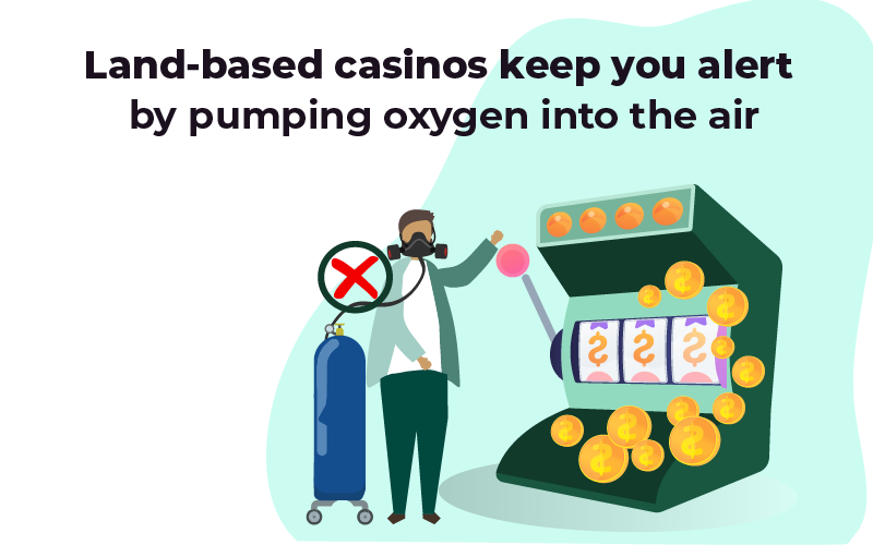 Land-based casinos keep you alert by pumping oxygen