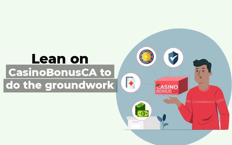 Lean on CasinoBonusCA to do the groundwork