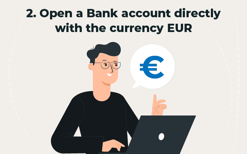 Bank account in EUR