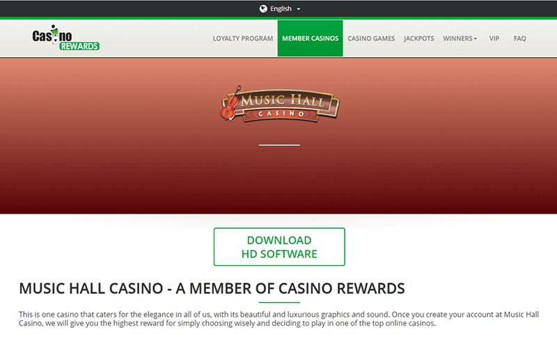 Music Hall Casino Rewards Preview