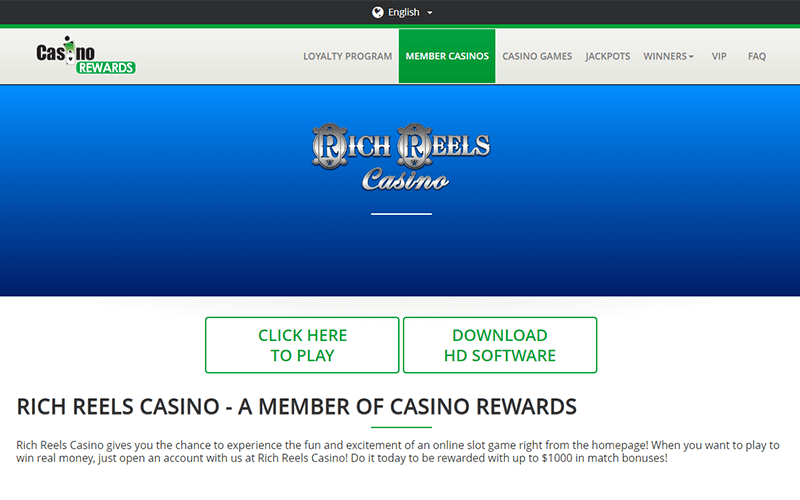 Rich Reels Casino Download Software Preview