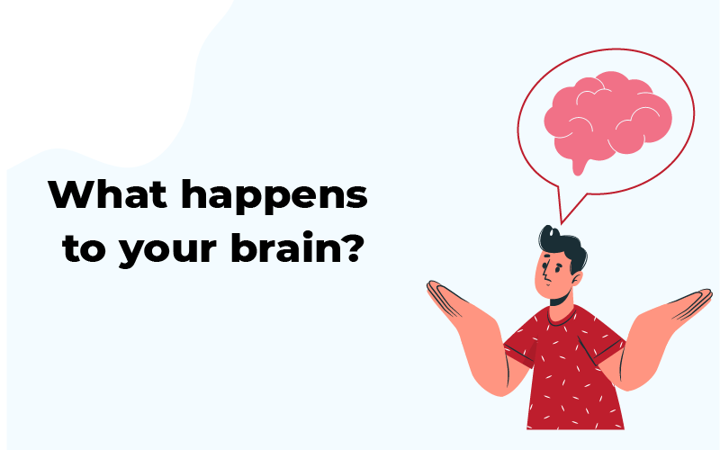 What happens to your brain